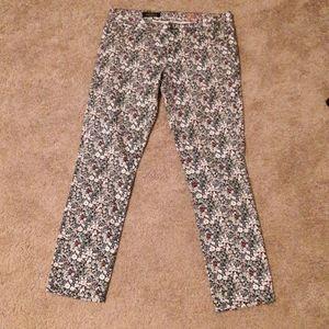 J crew toothpick floral pants